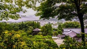 日本寺庙休息的禅宗放松 免版税库存图片
