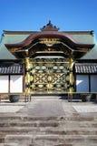 日本寺庙前门 图库摄影