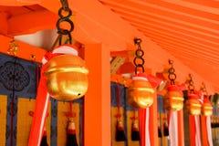 日本寺庙响铃 免版税库存图片