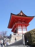 日本寺庙塑造了门入口,Gion,京都,日本 库存图片