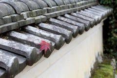 日本寺庙墙壁 免版税图库摄影