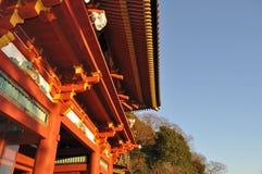 日本寺庙游廊 库存照片