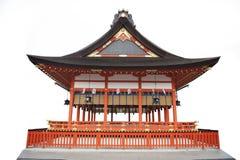 日本寺庙白色背景 免版税图库摄影