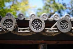 日本寺庙装饰 库存图片