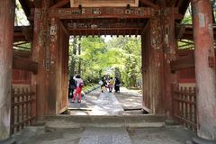 日本寺庙门 库存图片