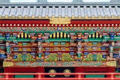 日本寺庙建筑学 库存图片