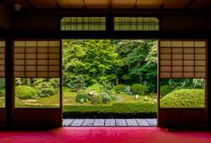 日本寺庙Unryu在京都 免版税库存图片