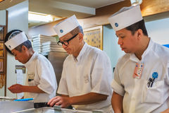 日本寿司厨师 免版税库存照片