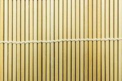 日本寿司竹席子纹理 免版税图库摄影