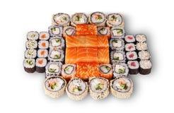 日本寿司集 库存照片
