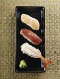 日本寿司顶视图 免版税库存照片
