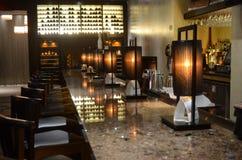 日本寿司餐厅室内设计-酒吧 免版税库存图片