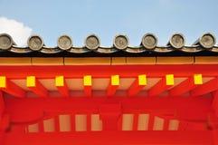 日本屋顶寺庙 免版税图库摄影