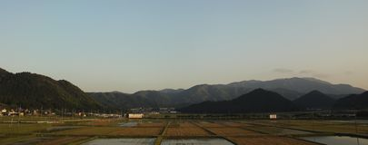 日本山脉视图-京都,日本 免版税库存照片