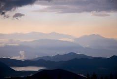 日本山 免版税库存照片