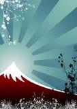 日本山 库存照片