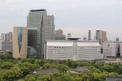 日本广播协会和历史大阪博物馆  免版税库存照片