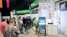 日本广播协会提出喂视觉8K录影系统, NAB在拉斯维加斯,美国显示2014年, 影视素材