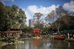日本庭院在布宜诺斯艾利斯阿根廷 免版税库存照片