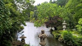 日本庭院在法国 免版税库存照片