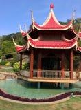 日本庭院在Ramoji影片城市 库存图片