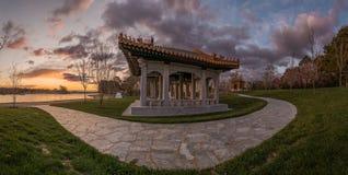 日本庭院寺庙 库存图片
