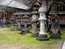 日本庭院雕象 图库摄影