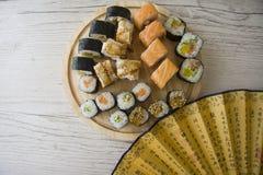 日本开胃菜特写镜头  图库摄影