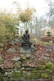 日本式庭院和雕塑 免版税图库摄影