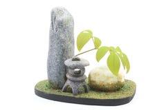 日本式庭院的微型模型 图库摄影