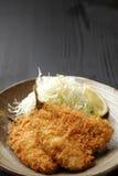 日本式油煎的鱼 免版税库存照片