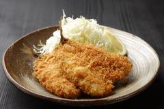 日本式油煎的鱼 图库摄影