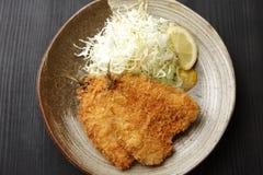 日本式油煎的鱼 库存图片