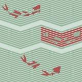 日本式红色东方鱼 向量例证