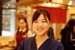 日本微笑 库存图片
