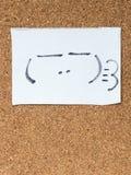 日本意思号系列叫Kaomoji,踌躇满志 免版税图库摄影