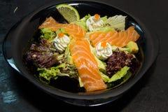 日本或泰国或者中国海鲜膳食 面条 免版税库存图片