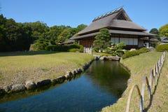 日本房子和庭院在冈山 库存照片
