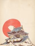 日本房子图画 免版税库存照片