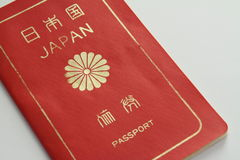 日本护照(20世纪90年代) 免版税图库摄影
