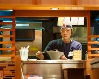 日本拉面厨师 库存照片