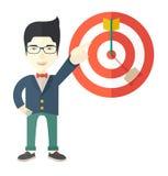 日本推销员击中了销售目标 免版税图库摄影