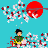 日本文化的标志在一张图片的 库存图片