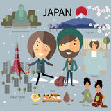 日本旅行 免版税库存照片