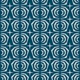 日本无缝的样式有蓝色背景 免版税图库摄影
