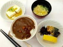 日本早餐 免版税图库摄影