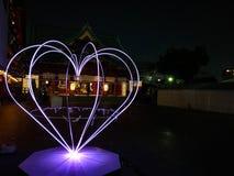 日本暗藏的爱心脏 免版税库存照片