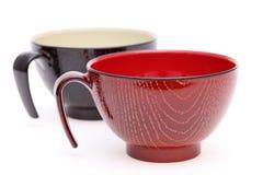日本木杯子 免版税图库摄影