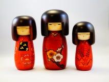 日本木玩偶Kokeshi 免版税库存图片