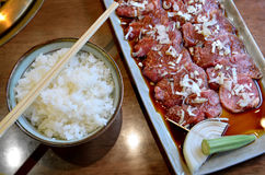日本未加工的牛肉集合或神户牛肉格栅集合 免版税库存图片